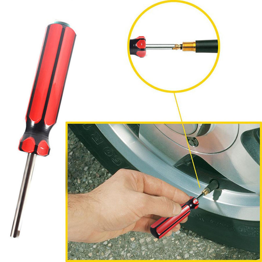 Tire Valve Stem Core Removal Tool Single Head Tire Tyre Valve Core Remover Tool For Car Motorcycle Tube Installer Tire Repair