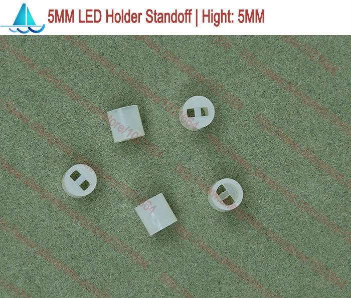200pcs/lot  5MM LED Lamp Holder Hight:5MM Light Emitting Diode Spacer Support Standoffs(China)