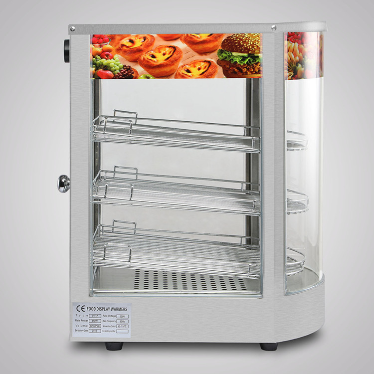 New Commercial Stainless Steel Countertop Food Pizza Display Warmer 20x17x14