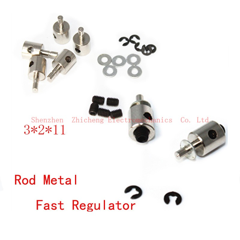 5 pieces. Metal connectors with stoppers to connect the servo with steering rods. Size M ...