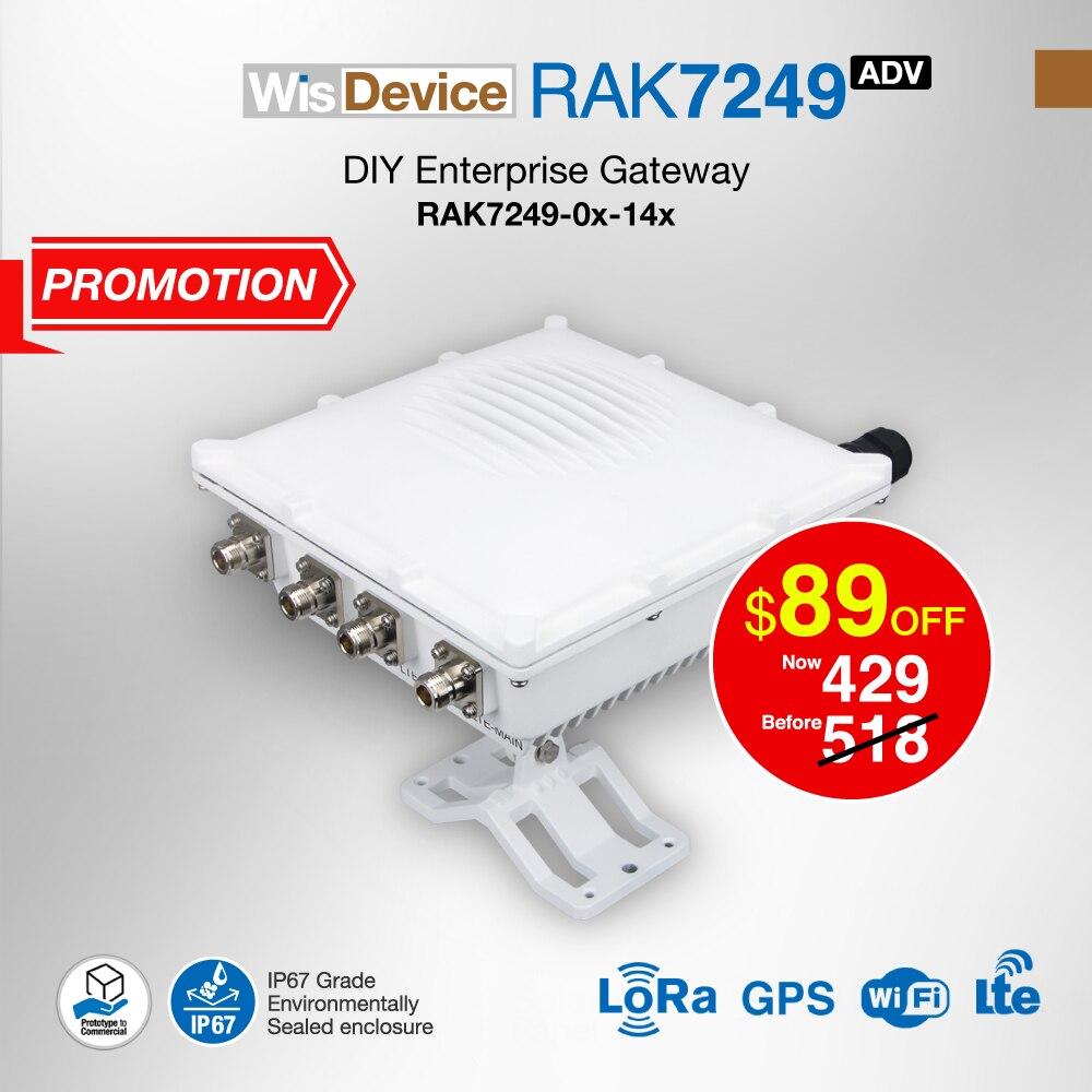 Empresa DIY al aire libre puerta LoRaWan Gateway de la red incorporado GSM OS con LoRa GPS WIFI antena LTE IP67 impermeable Q123
