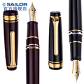 Большой поршень SAILOR PG pro gear 11 - 3926 с Двойной емкостью  21K Золотой наконечник  двухцветная ручка  черный  красный  классический