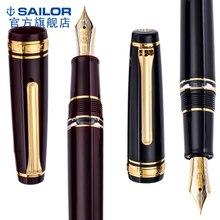 Двухцветная ручка с большим поршнем 21 К золотым наконечником Сейлор PG pro gear 11 3926, черная, красная, Классическая