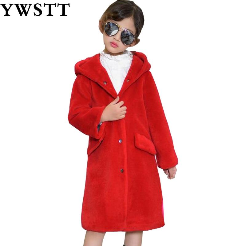 Стрижки овец детская одежда меха для мальчиков и девочек Длинные шерстяное пальто куртка 2018 Детские зимние штаны теплая куртка
