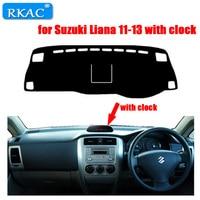 RKAC RIGHT hand drive Car Dashboard cover rug for Suzuki Liana 2011 2013 with clock Dust proof car dashboard mat accessories