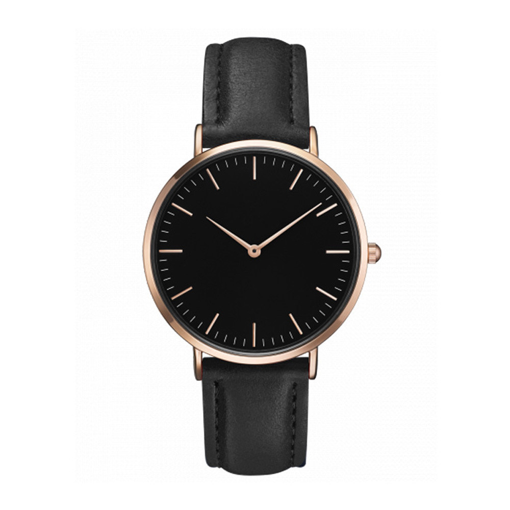 Women Men Casual Simple Analog Watch Leather Band Wrist Watches Military Quartz-watch Waterproof Male Clock Relogio Masculino fashion brand women casual simple chain quartz wristwatches analog dial watch band casual chain wrist watches clock for girls