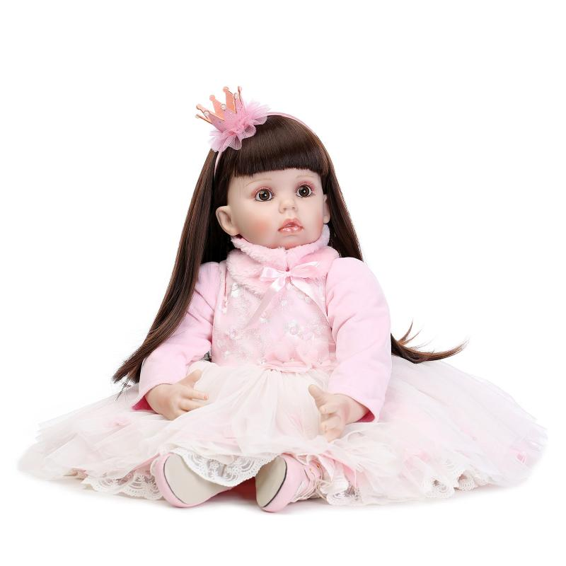 4de8620a984 70cm Silicone Reborn Baby Doll lifelike Big Size Princess Baby Reborn Doll  Toy Christmas Birthday Gifts Infant Clothing Model-in Dolls from Toys    Hobbies ...
