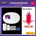 CORINA WIFI GSM Home Security Alarm Systeem Met 2.4 inch TFT Touch Panel APP Controle RFID Card Draadloze Smart Home inbraakalarm