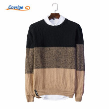 Covrlge 2017 Men's Sweaters O-Neck Pullover Male Patchwork Fashion Christmas Sweater Men Free Shipping Men Clothing M-3XL MZM016