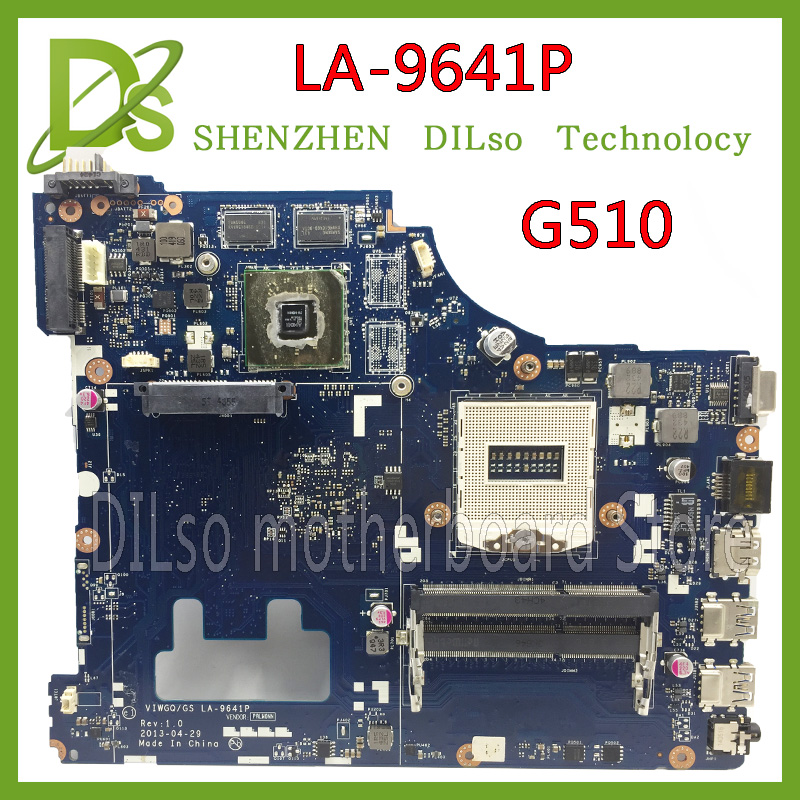 KEFU LA-9641P For Lenovo VIWGQGS LA-9641P for Lenovo G510 Laptop Motherboard  motherboard 100% tested hot for lenovo z500 laptop motherboard viwzi z2 la 9061p z500 2g video card with graphics card ev2a 100% tested