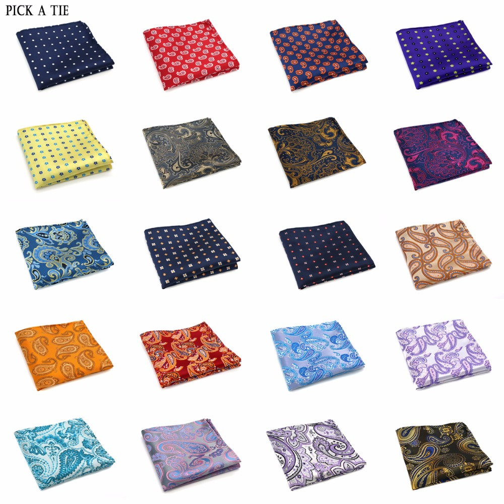 21-40 New Mens 100% Silk Handkerchiefs Floral Paisley Pocket Squares For Suits Jackets Wedding Party Business From 20 Patterns