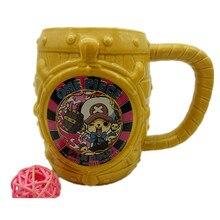 One Piece Luffy cốc cà phê trà sữa thùng đánh dấu sáng tạo drinkware