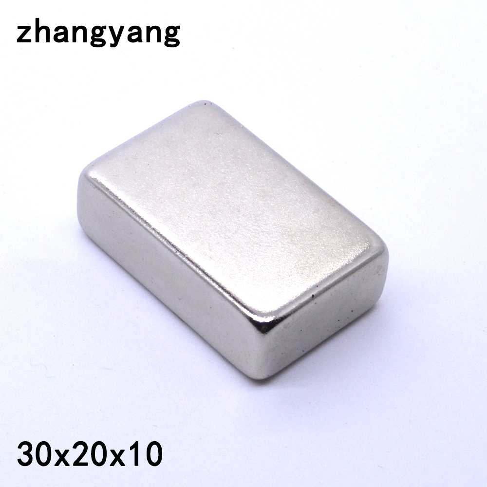 10 pz 30mm x 20mm x 10mm forte magnete 30*20*10mm Strong Block magnete in Terre Rare Neodimio 30x20x10mm Piazza magneti