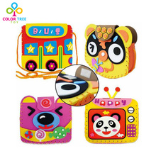 Kids Creative DIY Toys EVA Sticker Handmade Bags 3D Sponge Paper Toys Learning Educational Toys For Young Children