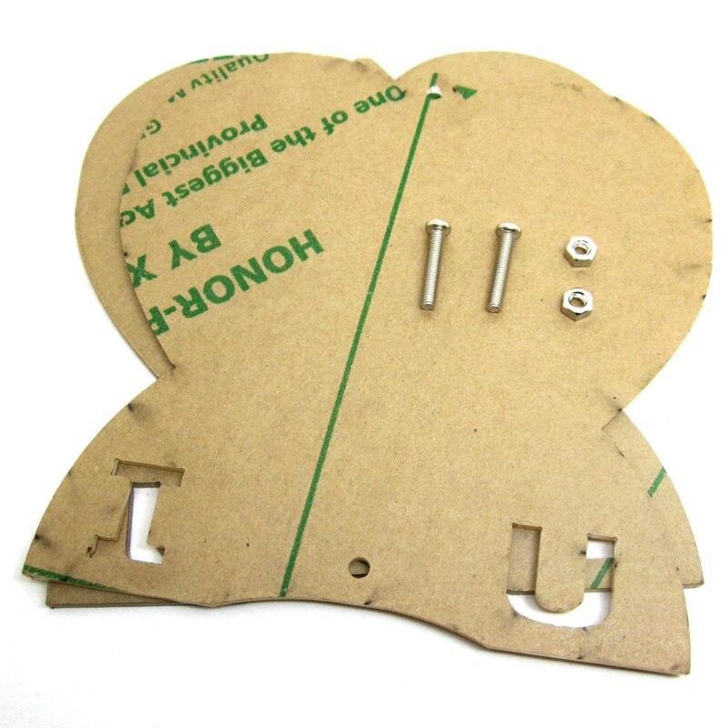 Heart-shaped Lights Cubeed, Led Electronic Diy Kit Acrylic  Case