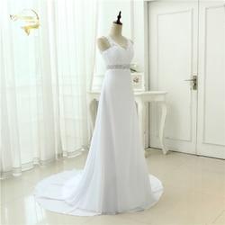 2019 Chinese Hand Made Beading Wedding Dress Chiffon Low Back Sexy Applique Lace Beach Vestidos De Novia Robe De Mariage JL0097 4