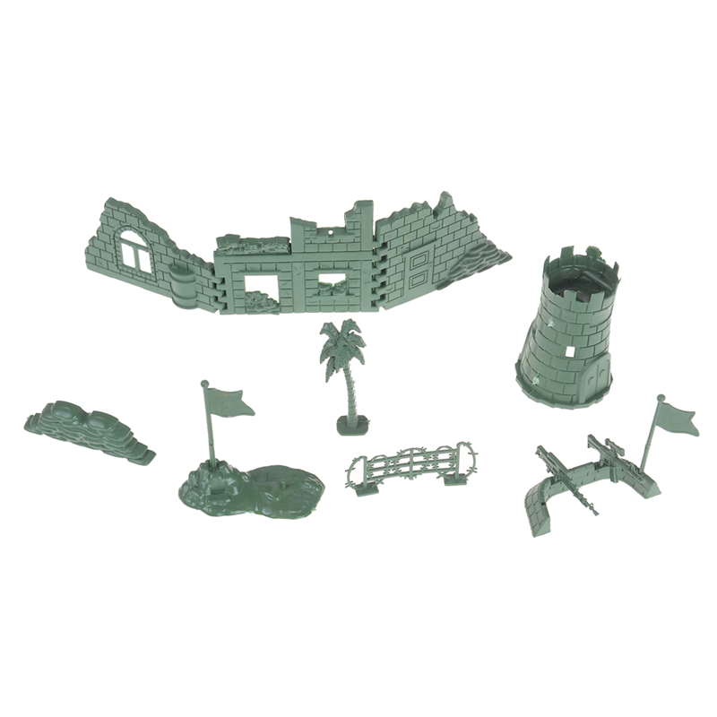 Action & Toy Figures Adaptable Playset Kit Gift Model Toy 11pcs/set Sandbox Game Military Plastic Toy Soldier Model Accessories For Kids Boys Crease-Resistance