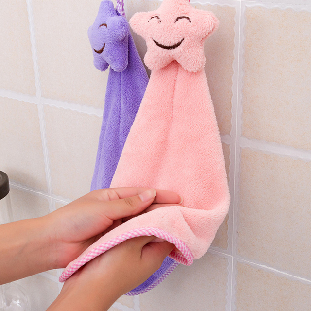 Hot Volto sorridente Appeso A Mano Asciugamani Da Cucina Asciugamano di Corallo