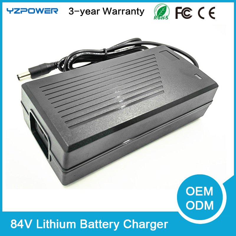 Built-in Fan 84V 3A Lithium Battery Charger Universal for 20-cell 20X3.6V 20X3.7V Li-on Li-po Power Tools 30a 3s polymer lithium battery cell charger protection board pcb 18650 li ion lithium battery charging module 12 8 16v