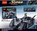 Decool 7116 superhéroe batman the ultimate batmobile modelo kit de construcción de ladrillo bloques del bebé diy juguete