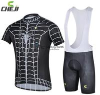 2014 NEW Summer Spider Man Short Sleeve Cycling Jersey Bib Shorts Set Bike Bicycle Wear Clothes