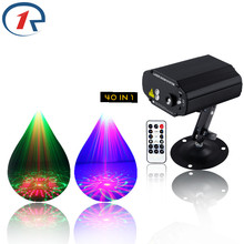 R-S-40 IR Remote Red Green Laser Light Blue LED Stage Light 40 Patterns Laser projection map disco light bar ktv dj lights