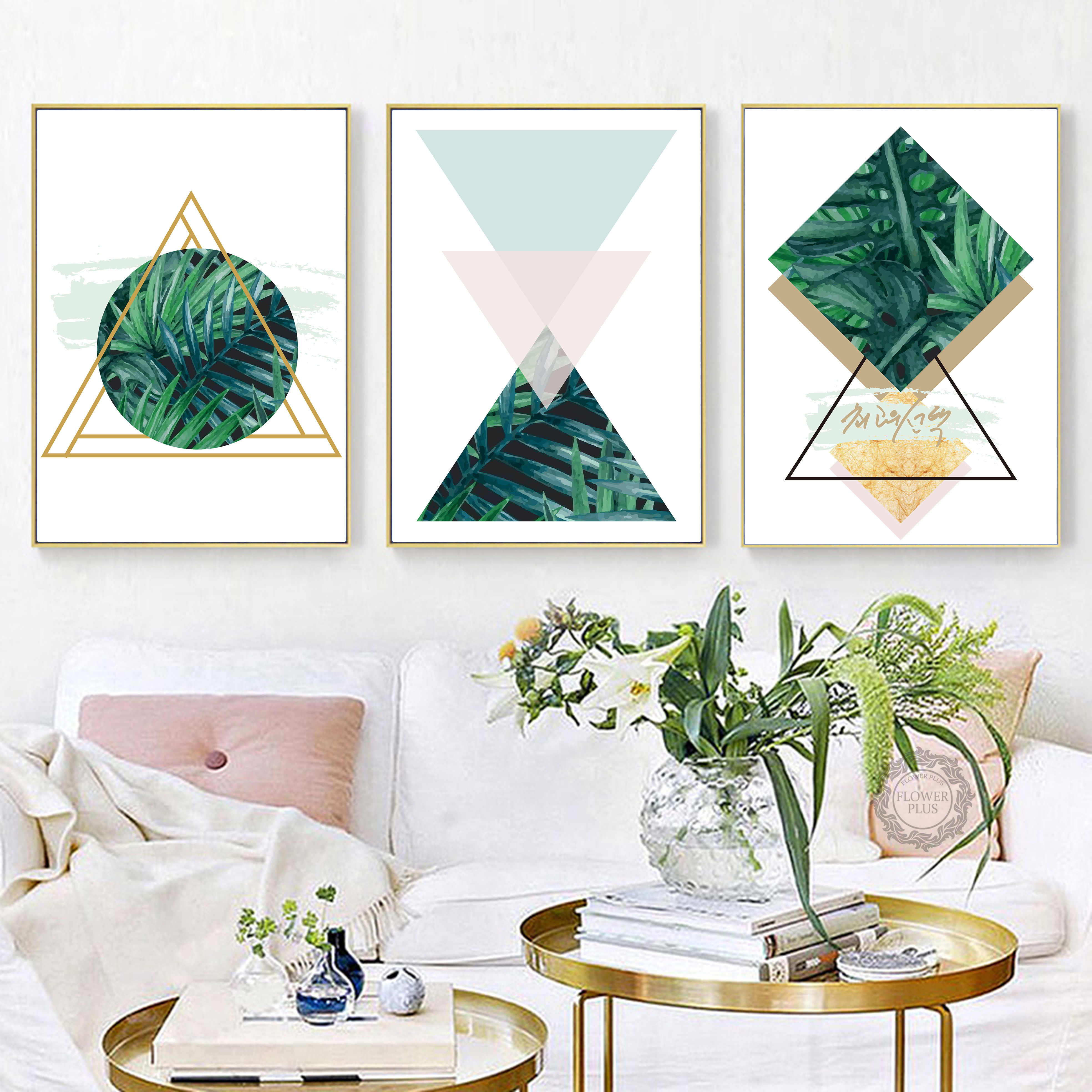 Poster Nordic Style Home Decor Picture Geometric Pink Green Marble Gray Rose Gold Printable Wall Art Digital Quadro Cuadros Painting Calligraphy Aliexpress