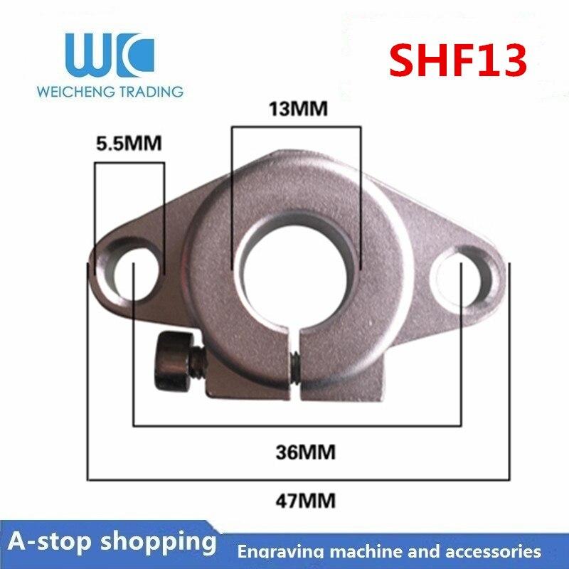 SHF13 Linear Optical Axis Guide Holder Light Bar Horizontal Diamond Support Bracket Bearing Lock Seat SHF8-50