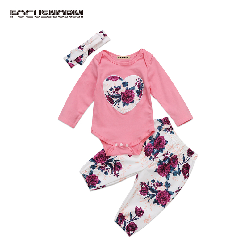 New Fashion Newborn Infant Baby Girl Clothes Floral Romper Jumpsuit Plant Headband Outfits Sunsuit Clothes