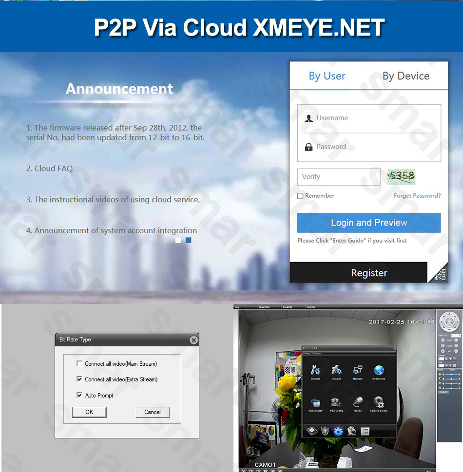 4-P2P Via Cloud XMEYE.NET