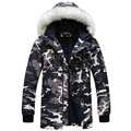 Camouflage Winter Jacket For Men 2016 New Designer Brand Clothing Winter Jacket Men's Coat Par Camo Snow Long Casual MC632