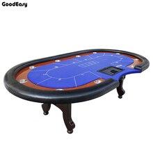 280*140 см 6 цветов казино покер стол Texas Hold'em Baccarat квадратный tbile с 10 игроков