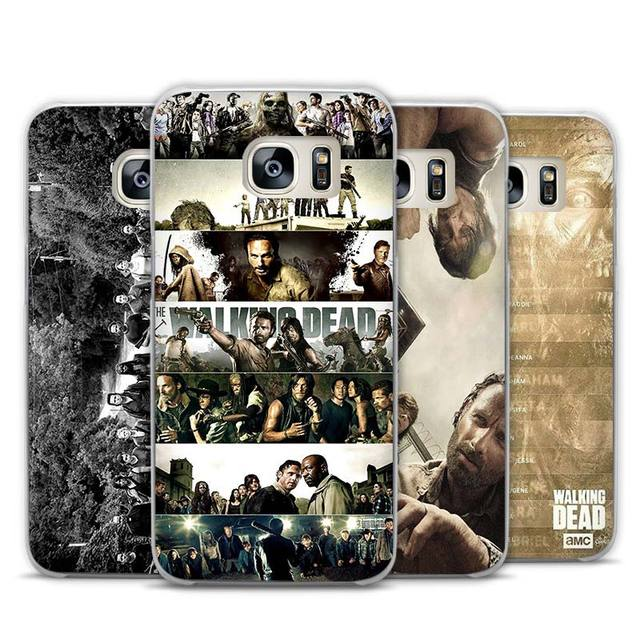 The Walking Dead Transparent Phone Case Cover for Samsung Galaxy S3 S4 S5 S6 S7 Edge Plus Mini