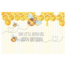 Laeacco Little Bee Honey Stripes Baby Birthday Party Photography Background Customized Photographic Backdrop For Photo Studio mehofoto bee baby shower backdrop a sweet little bee sunflower photography background honey bumble bee baby shower party banner