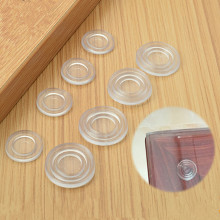 25pcs Round Shape Glass Table Non-slip Soft Grip Pad transparent silicon soft rubber Fixed tempered glass Furniture Accessories