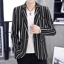 Zogaa 2019 New Spring Mens Blazer Fashion Slim Fit Business  Smart Cas
