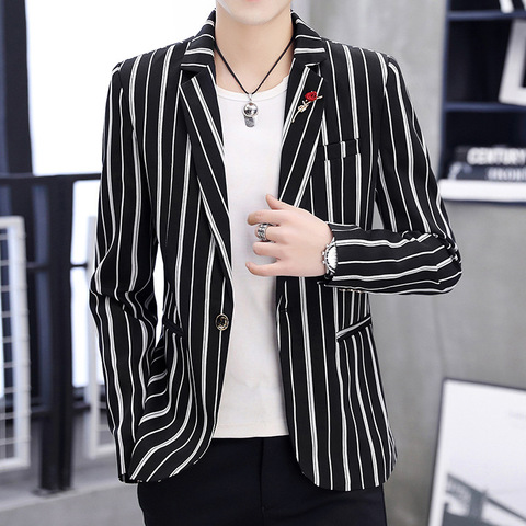 Zogaa 2019 New Spring Mens Blazer Fashion Slim Fit Business  Smart Casual Stripe Suits & Blazers Veste Costume Homme Pakistan