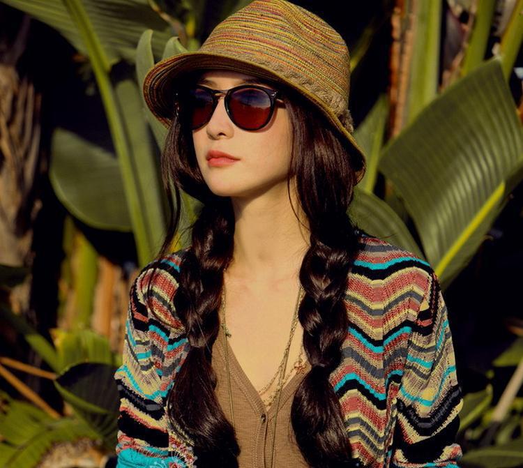 8a9c54ef Cheap Stripe Colorful Summer Style Sun Hats Designer Wide Brim Women Bucket Hiking  Hats Stylish Derby Summer Beach Hats Women
