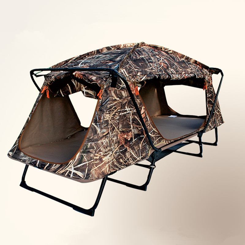 Professional outdoor Camouflage tents Leave the ground hunting fishing camping tent Multi-functional double folding deck chairs functional capacity of mango leave extracts