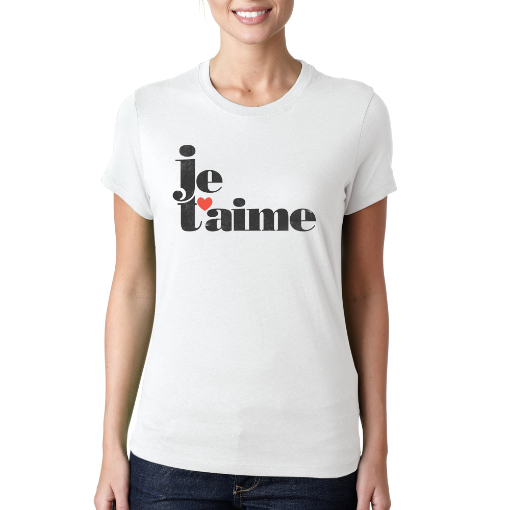 Design t shirt china - Dong King Women Summer Novelty Je T Aime Design T Shirt Letters Printed O