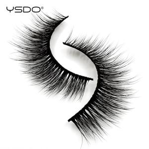Image 4 - YSDO 5 זוגות 3D מינק ריסים טבעי שיער ארוך 100% דרמטי עין MakeupFake ריסים פלאפי Cilios ריסים G803