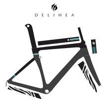 DeliHea углерода аэро рамка для дороги Полный новый дизайн серии Передний белый велосипед рамка матовая отделка в основном EMS Бесплатная доставка