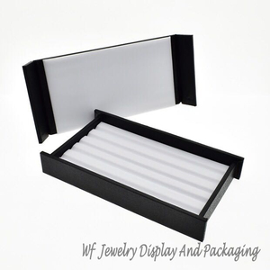 Image 3 - Superior Leather Mute With Magnet Cover  Diamond Display Tray Stone Storage Case Gem Box Jewelry Holder Gemstone Organizer