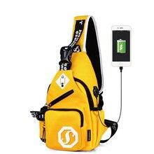 Senkey style Männer Brust Pack USB Lade Männer Messenger Bags Beiläufiger Männer reisetasche Hohe Qualität Moderne Mode Umhängetasche