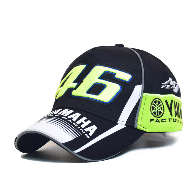 2017 de Alta Qualidade óculos de sol MOTO GP 46 Motocicleta 3D Bordado F1 Racing Cap Homens Mulheres Snapback Caps Boné de Beisebol Rossi VR46 YAMAHA Chapéus