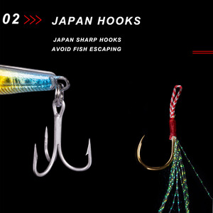 Image 5 - NOEBY NBL1001N fishing jigging lure lead casting artificial bait liminous 65mm 80mm for sea freshwater bass fishing accessories