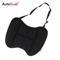 AUTOYOUTH Lumbar Back Support Car Seat Cushion Universal Butterfly Shape Lumbar Cushion For Car Lumbar Support