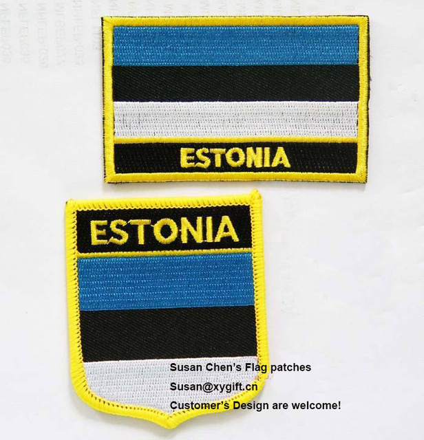 Estonia Flag patches embroidered flag patches national flag patches Free  Shipping