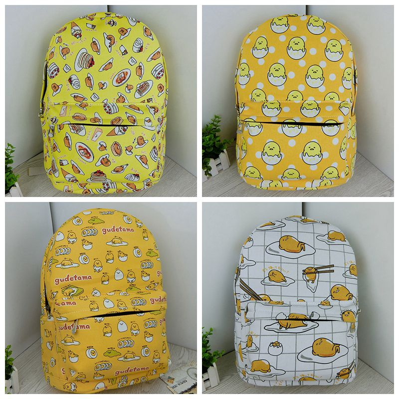 Gudetama Egg Cute Anime Canvas Kids Student Backpack Shoulder Bag Knapsack Packsack Rucksack Cartoon Fashion Gift New