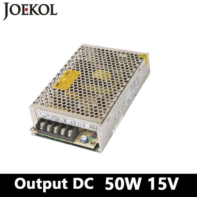 switching power supply 50W 15V 3A Single Output Mini smps power ...